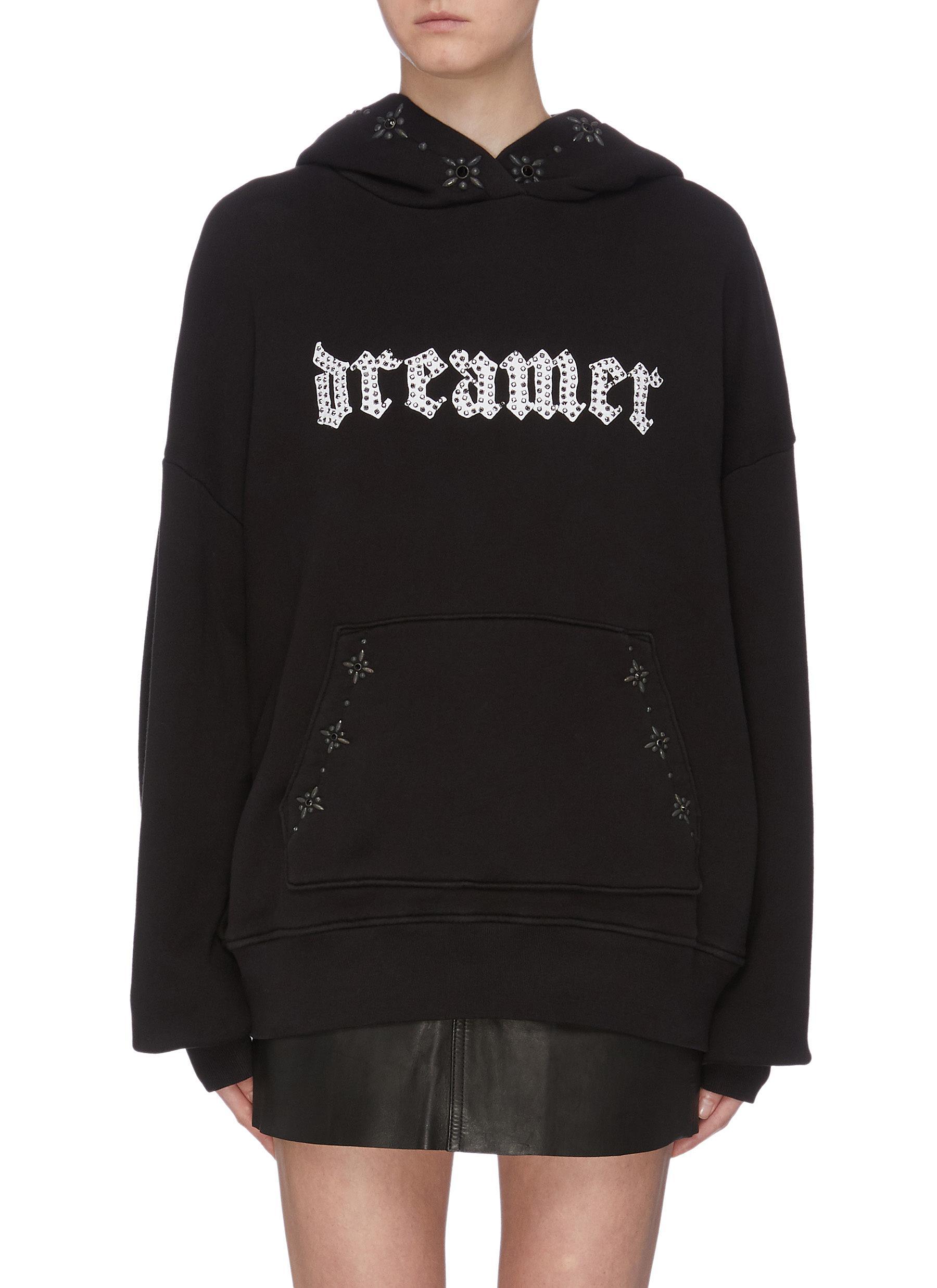 Dream stud slogan print hoodie by Amiri