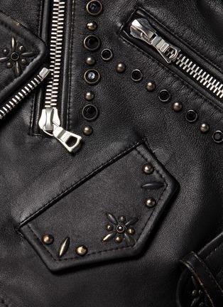- AMIRI - Studded cropped biker jacket