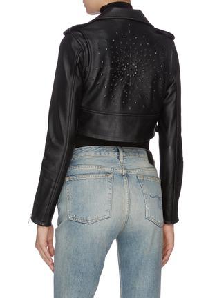 Back View - Click To Enlarge - AMIRI - Studded cropped biker jacket