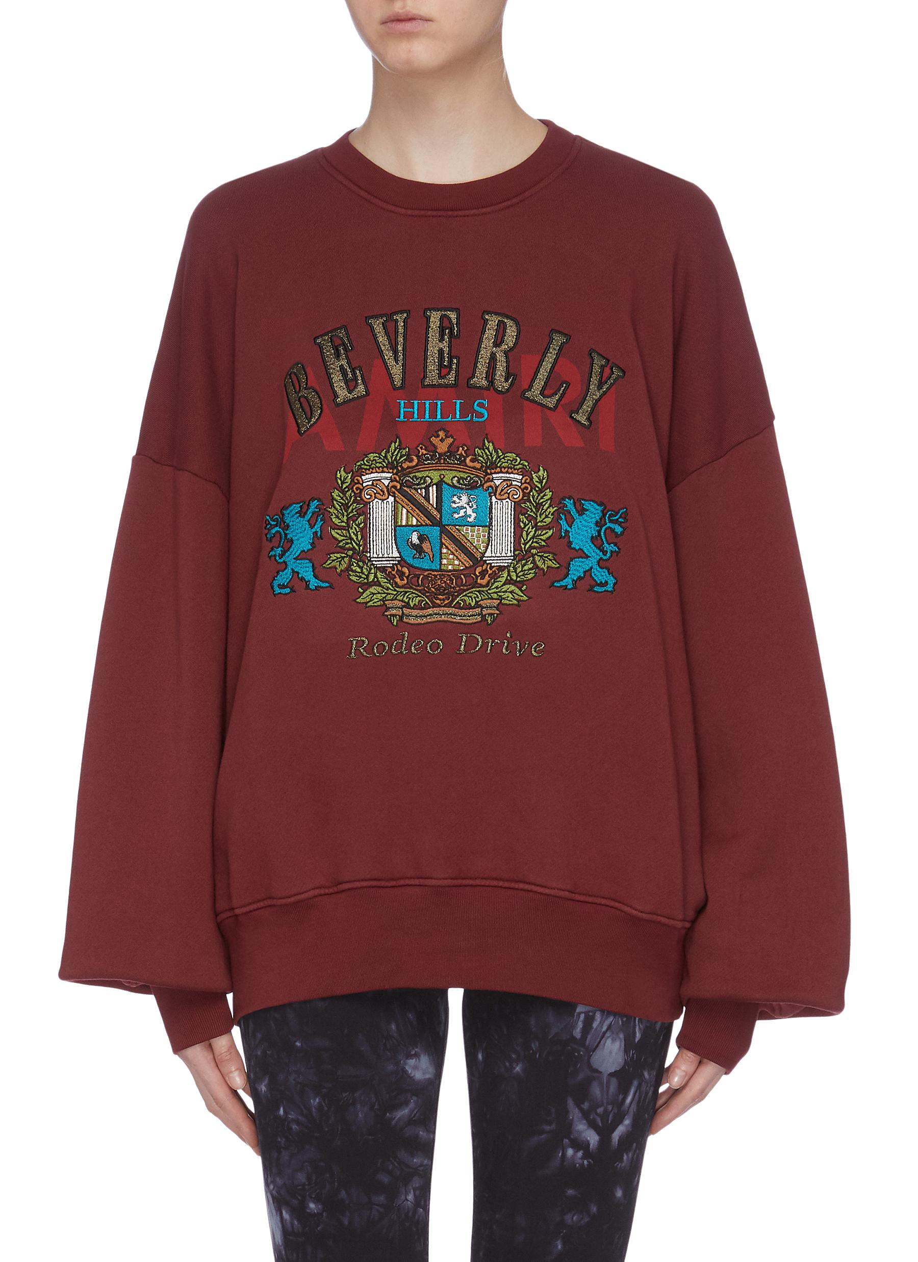 Beverly Hills graphic patch sweatshirt by Amiri