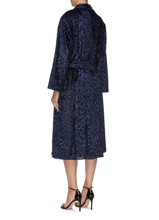 Back View - Click To Enlarge - BLAZÉ MILANO - 'Luxette Whistler' belted tinsel devoré robe coat