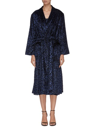Main View - Click To Enlarge - BLAZÉ MILANO - 'Luxette Whistler' belted tinsel devoré robe coat