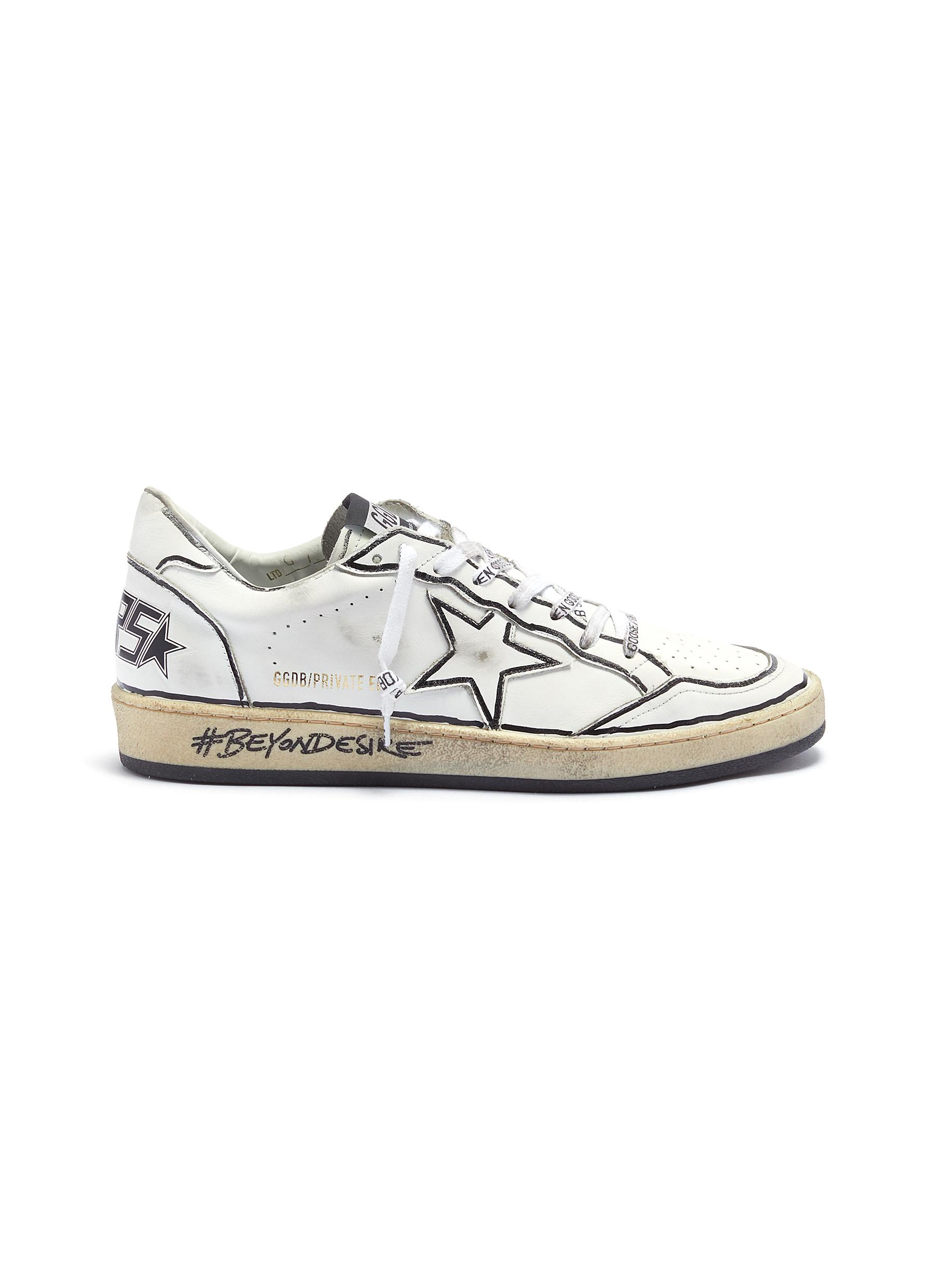 Slogan print midsole leather sneakers by Golden Goose