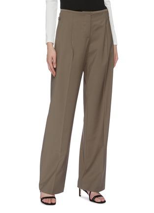 Detail View - Click To Enlarge - CHRISTOPHER ESBER - Detachable belt loop waist panel suiting pants