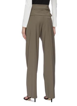 Back View - Click To Enlarge - CHRISTOPHER ESBER - Detachable belt loop waist panel suiting pants