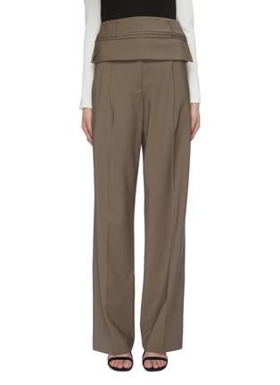 Main View - Click To Enlarge - CHRISTOPHER ESBER - Detachable belt loop waist panel suiting pants