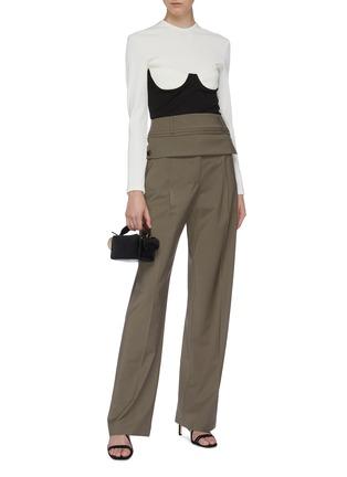 Figure View - Click To Enlarge - CHRISTOPHER ESBER - Detachable belt loop waist panel suiting pants