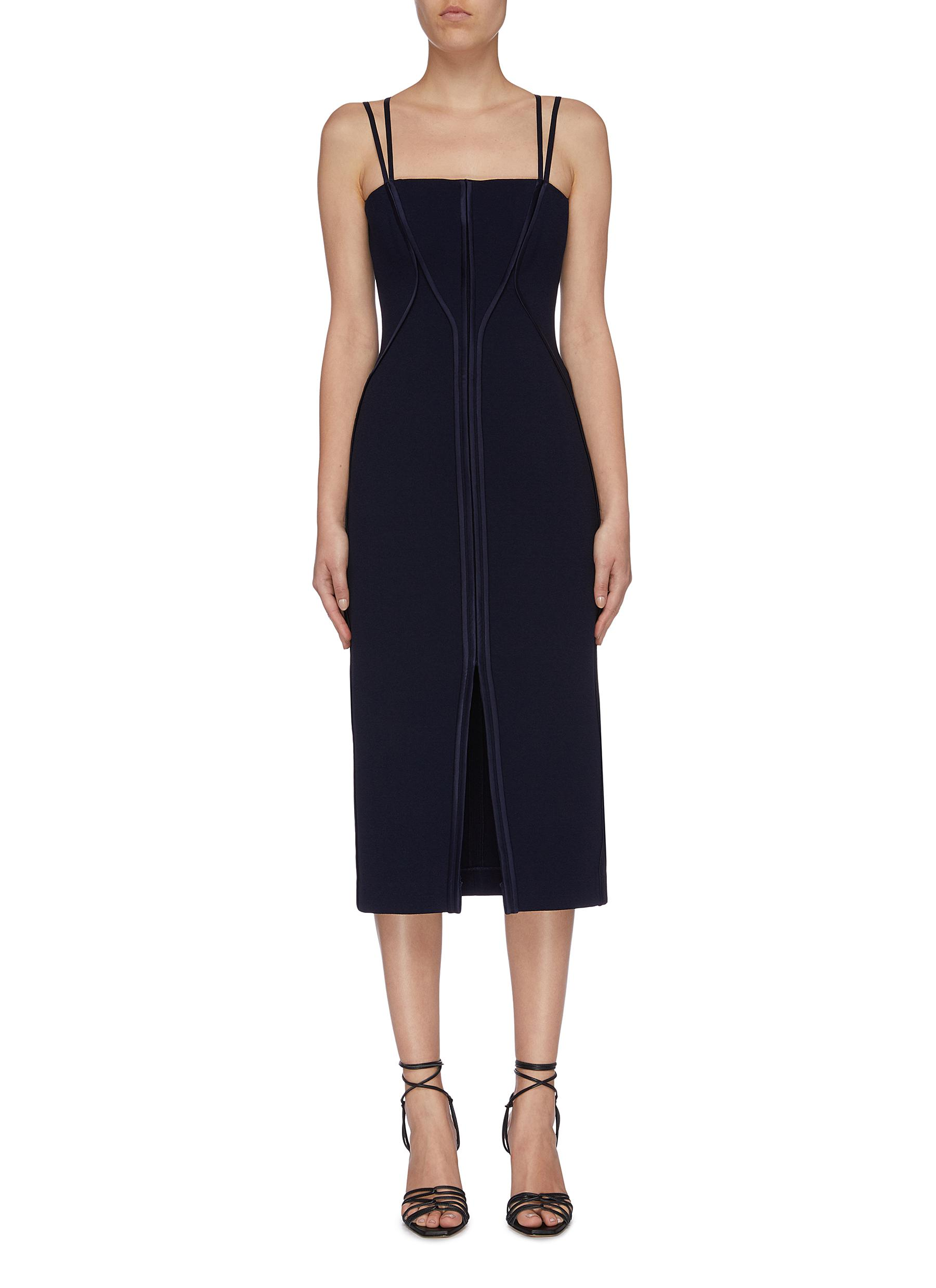 Annex strappy crepe bustier dress by Dion Lee