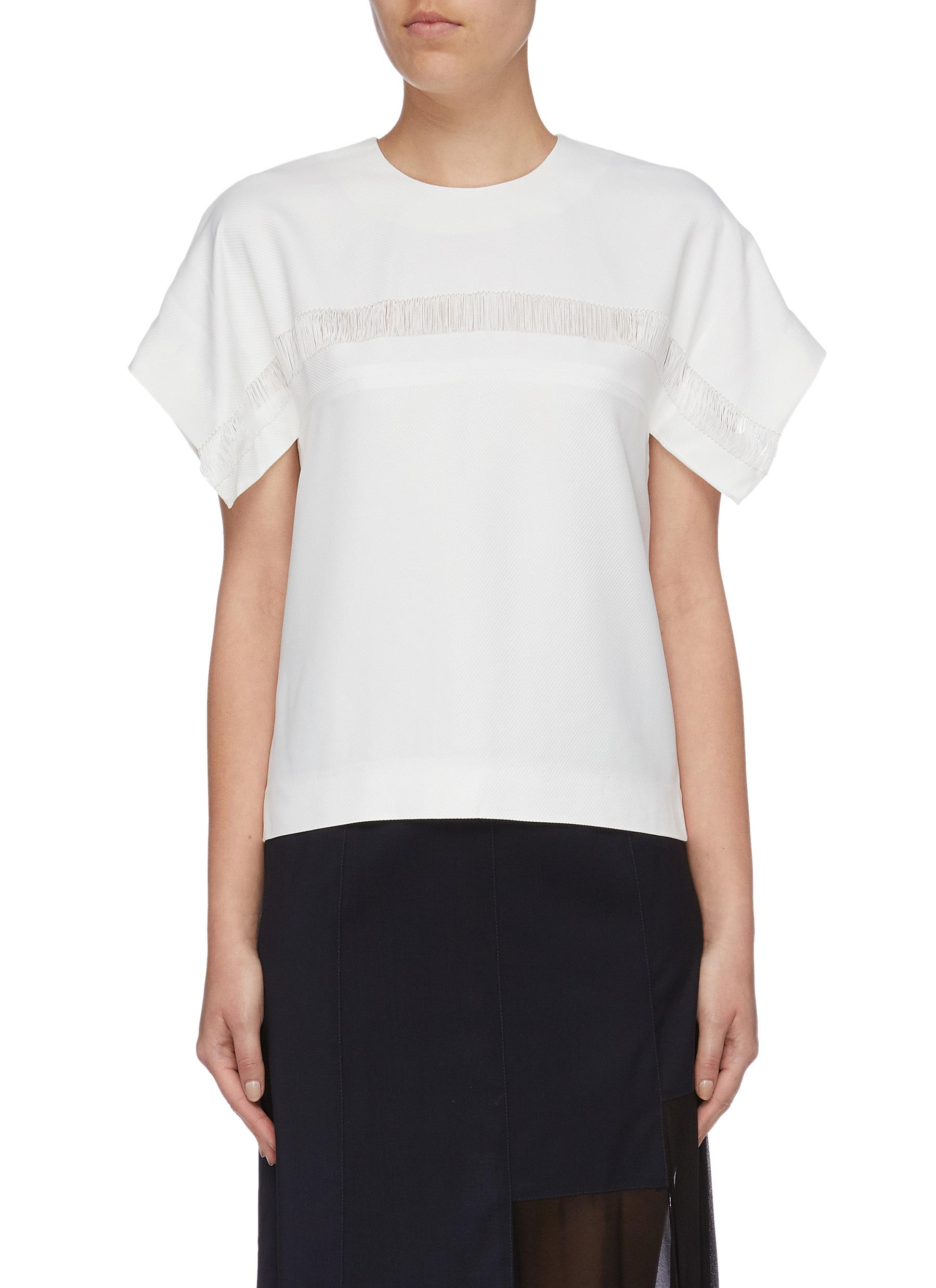 Float flared cuff twill top by Dion Lee