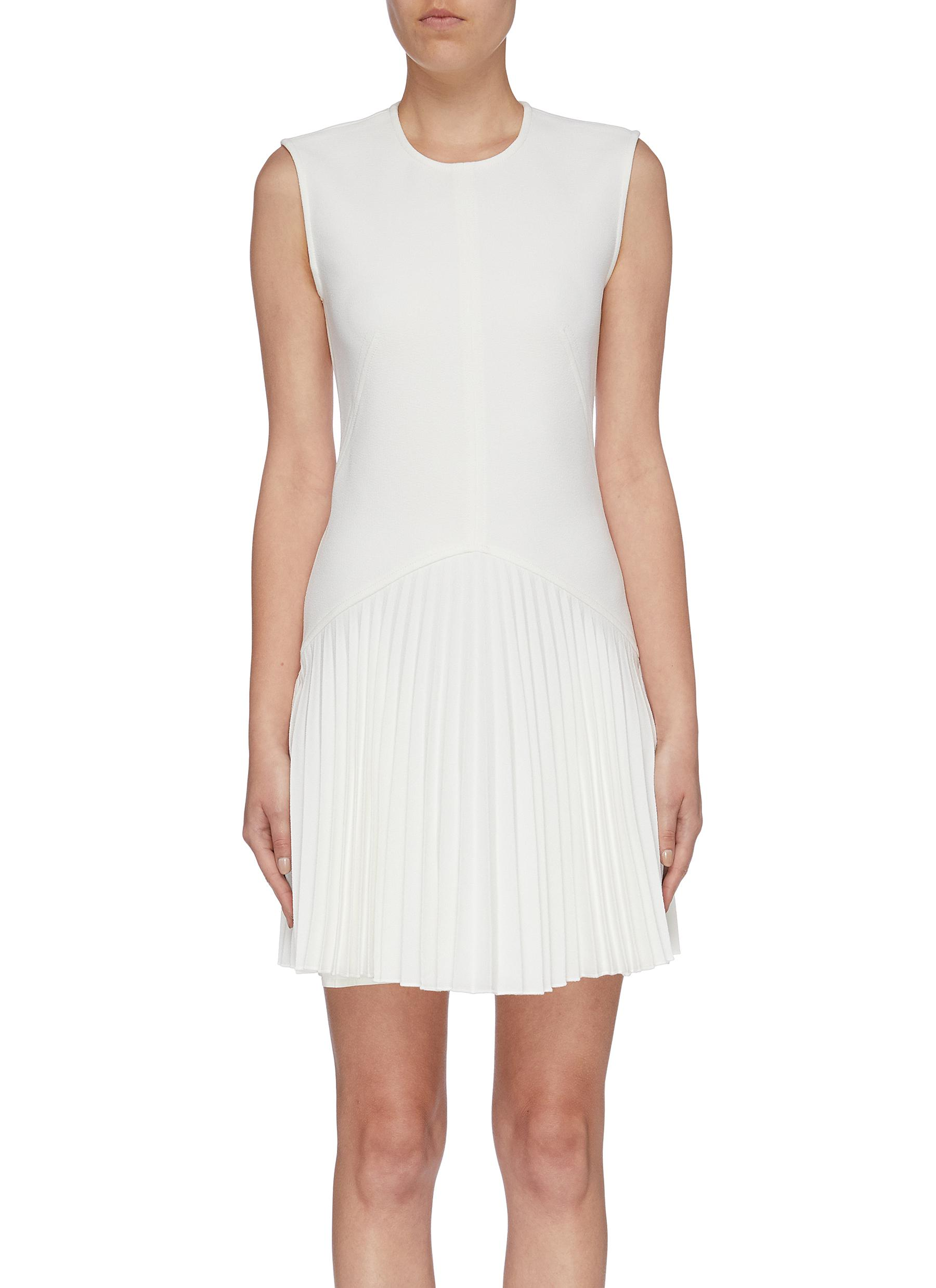 Annex pleated hem sleeveless crepe mini dress by Dion Lee