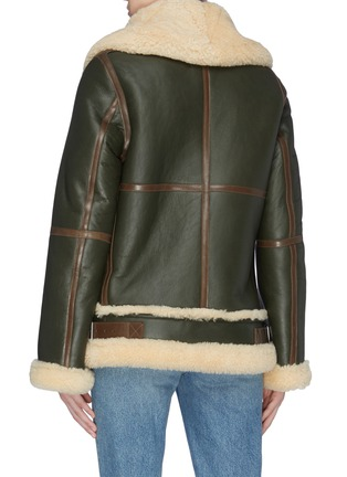 Back View - Click To Enlarge - ACNE STUDIOS - Panelled oversized boxy shearling jacket