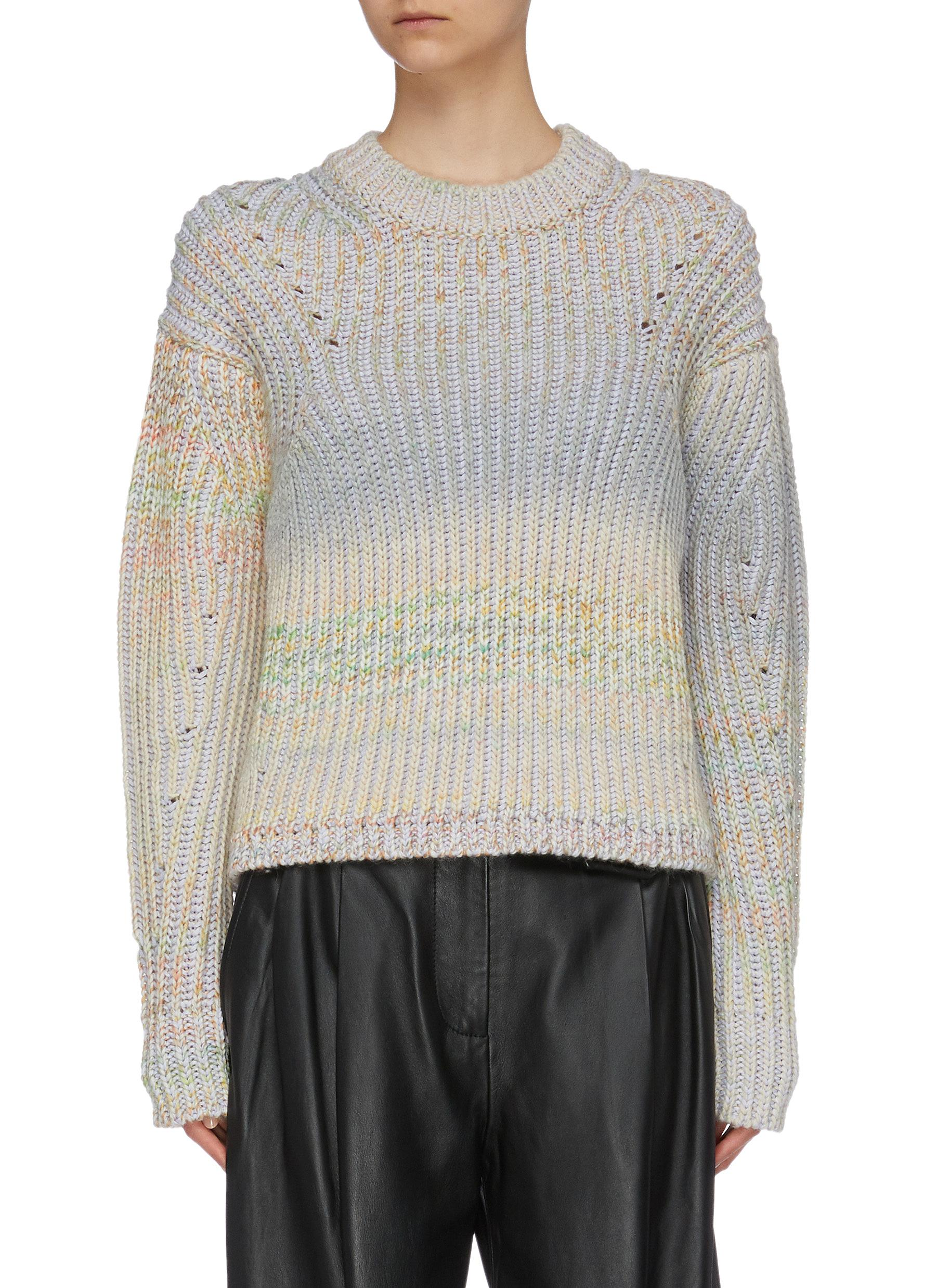 Gradient chunky rib knit sweater by Acne Studios