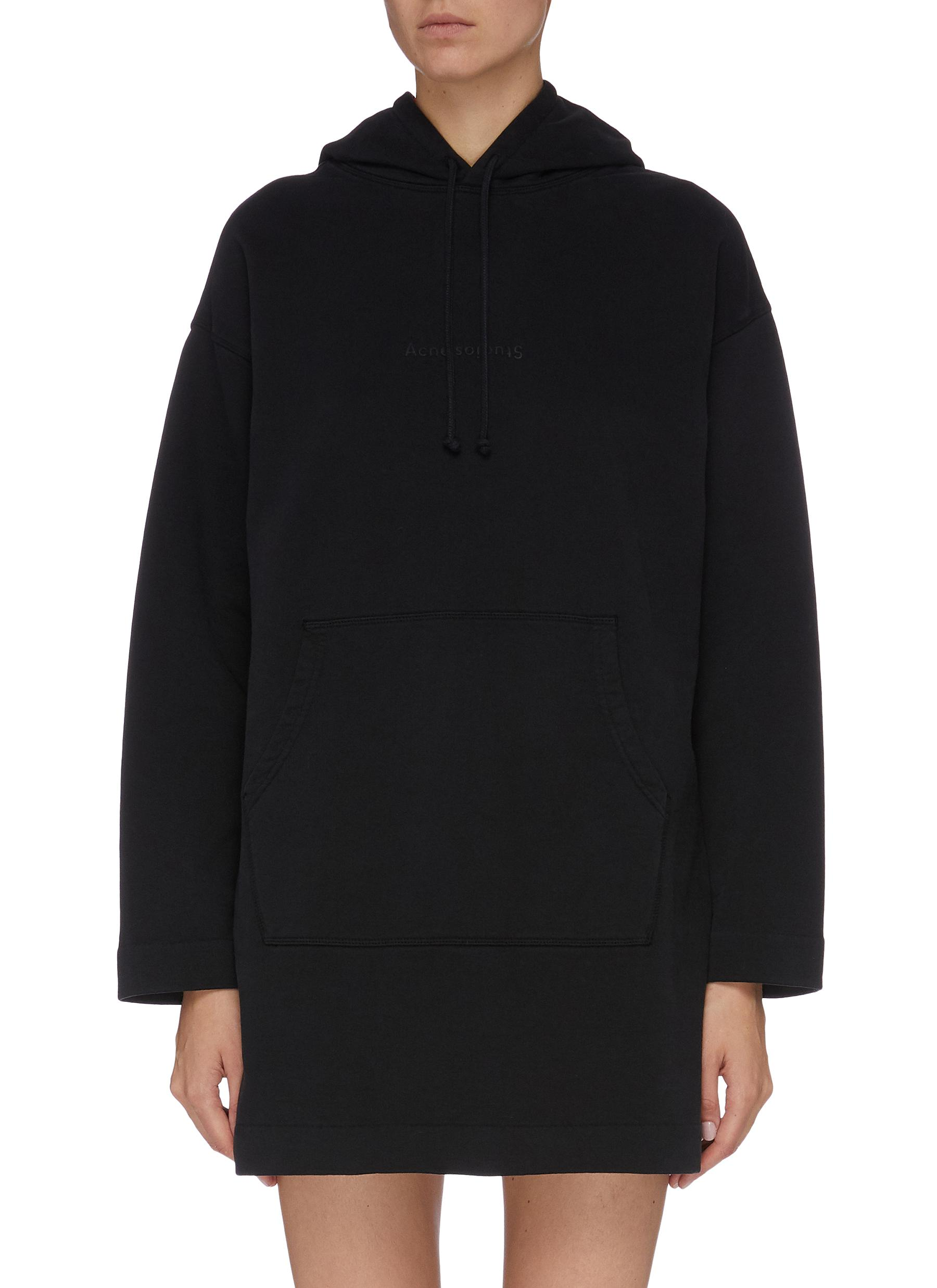 Logo embossed oversized hoodie dress by Acne Studios