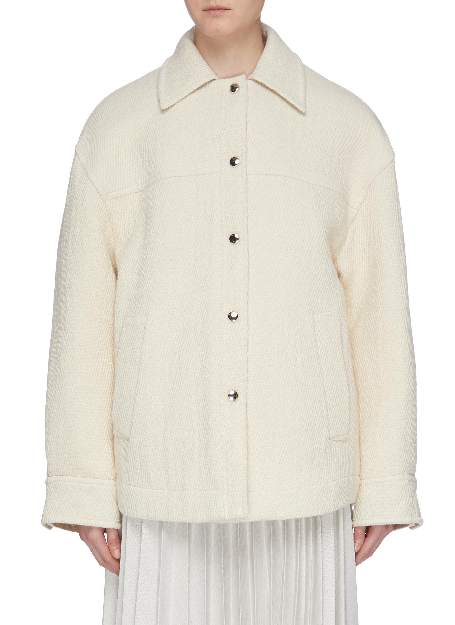 Oversized twill shirt jacket by Acne Studios