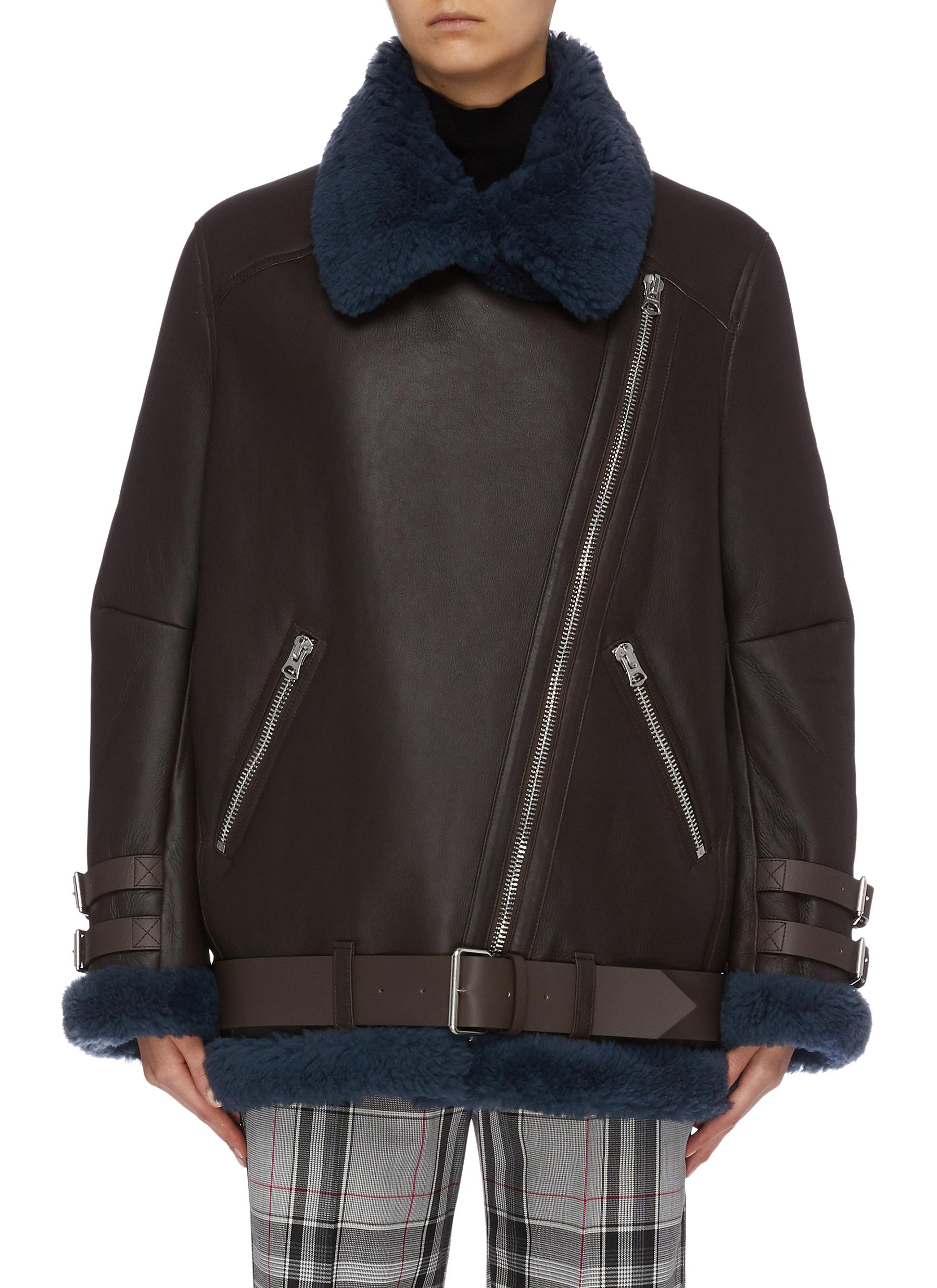 Oversized shearling aviator jacket by Acne Studios