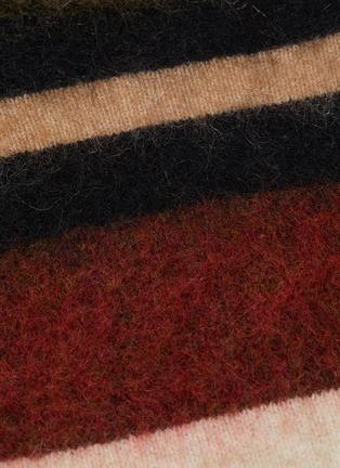- ACNE STUDIOS - Colourblock stripe oversized sweater