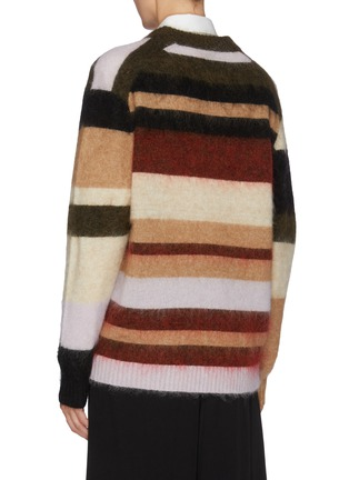 Back View - Click To Enlarge - ACNE STUDIOS - Colourblock stripe oversized sweater