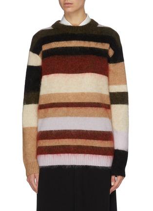 Main View - Click To Enlarge - ACNE STUDIOS - Colourblock stripe oversized sweater