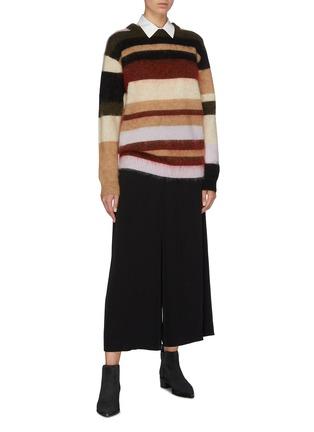 Figure View - Click To Enlarge - ACNE STUDIOS - Colourblock stripe oversized sweater