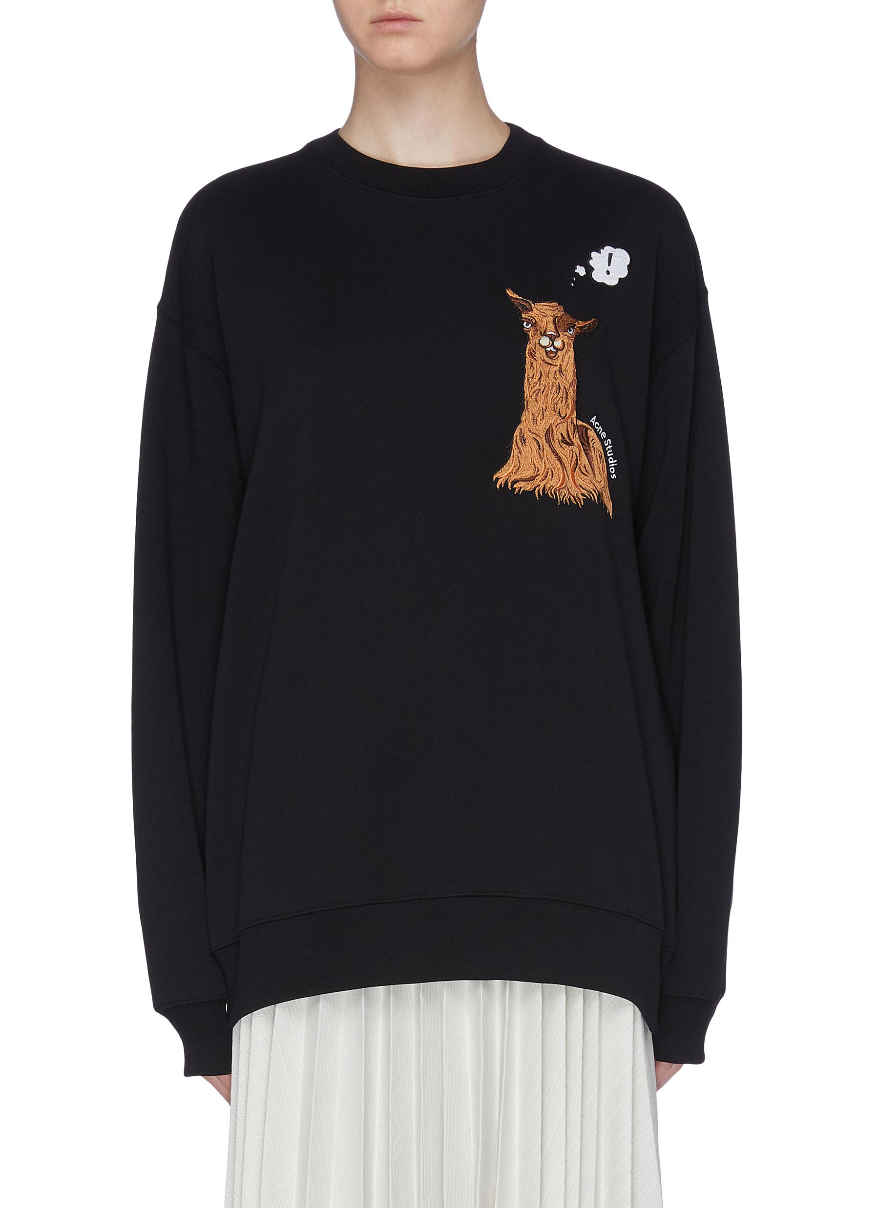 Animal embroidered oversized sweatshirt by Acne Studios