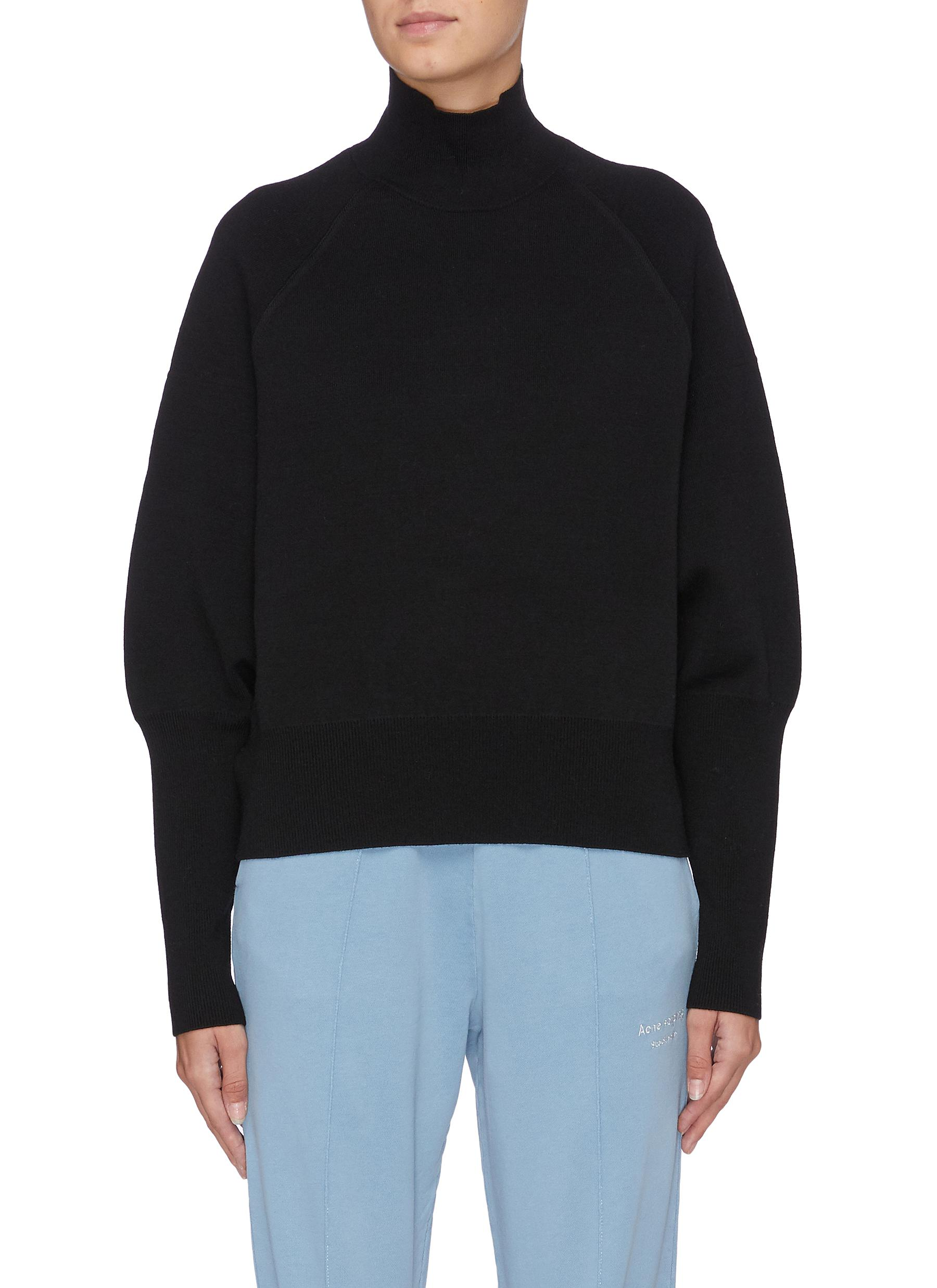 Puff sleeve turtleneck sweater by Acne Studios