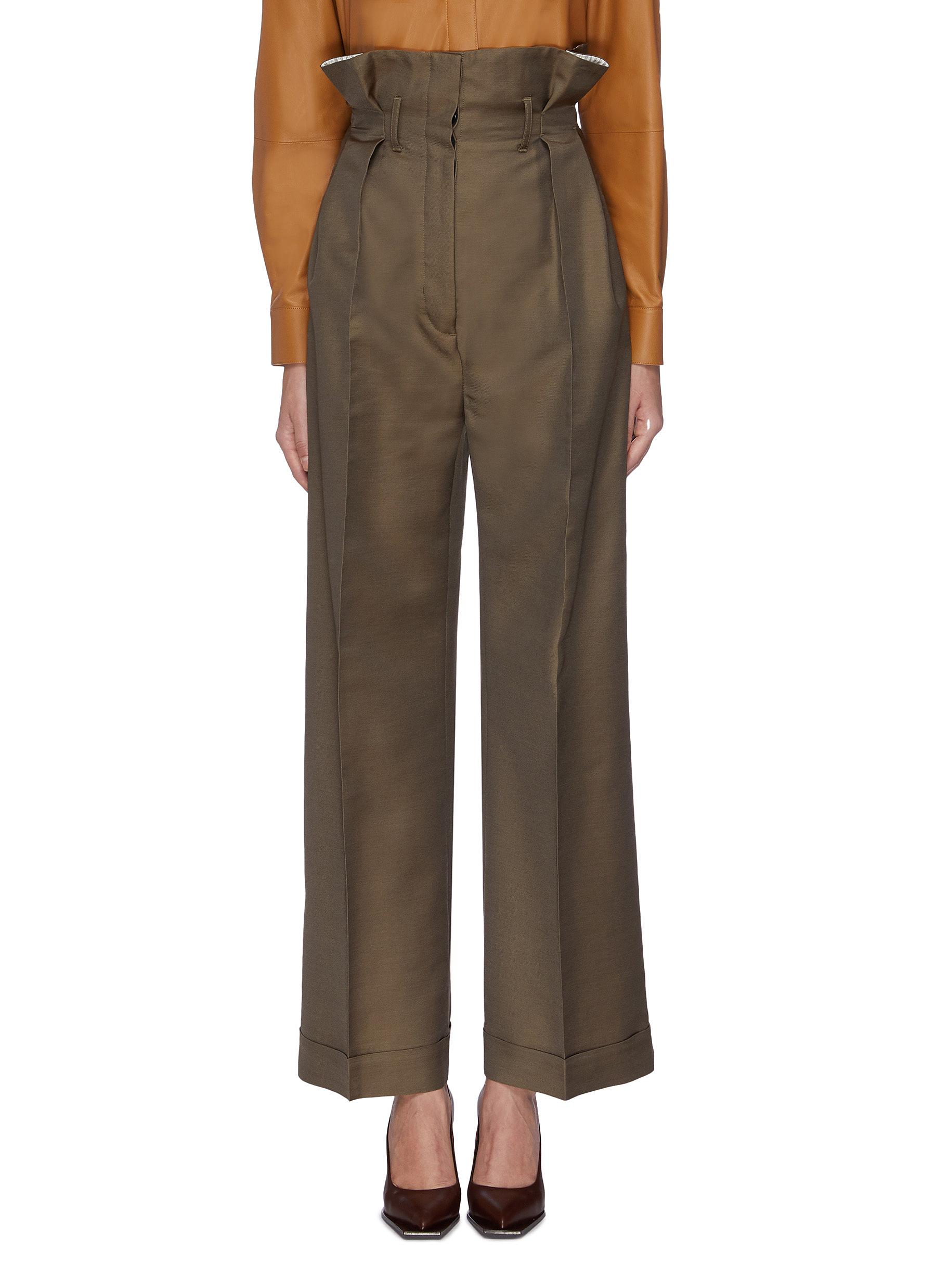 Pleated paperbag pants by Acne Studios