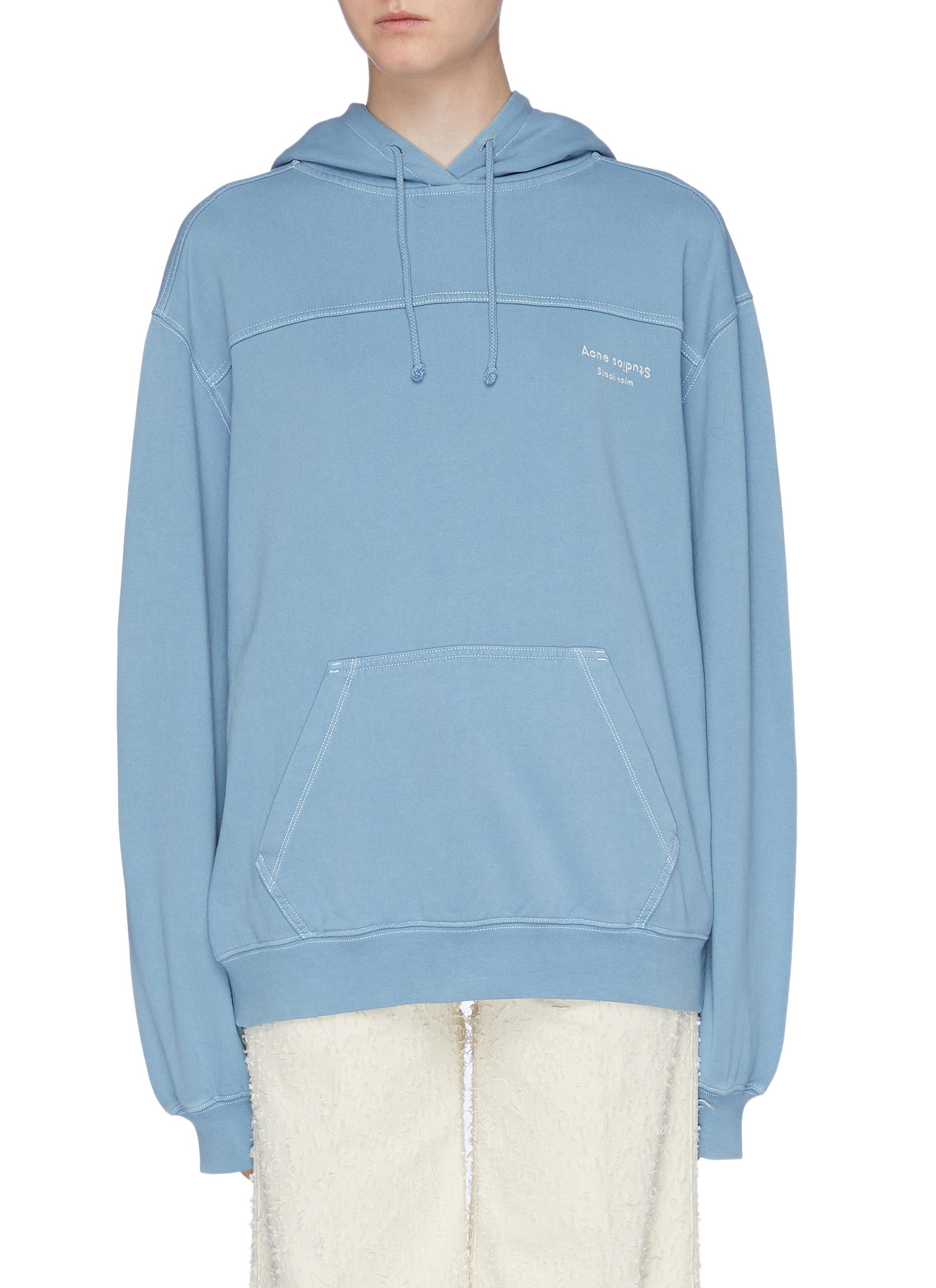 Logo embroidered panelled hoodie by Acne Studios
