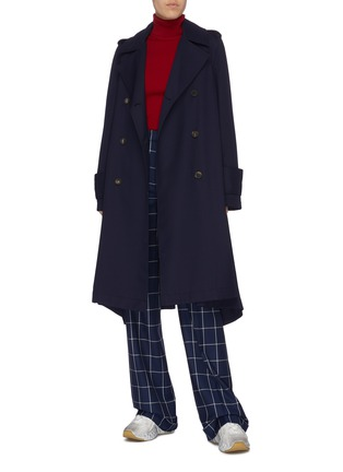 Figure View - Click To Enlarge - ACNE STUDIOS - Belted double-breasted twill trench coat