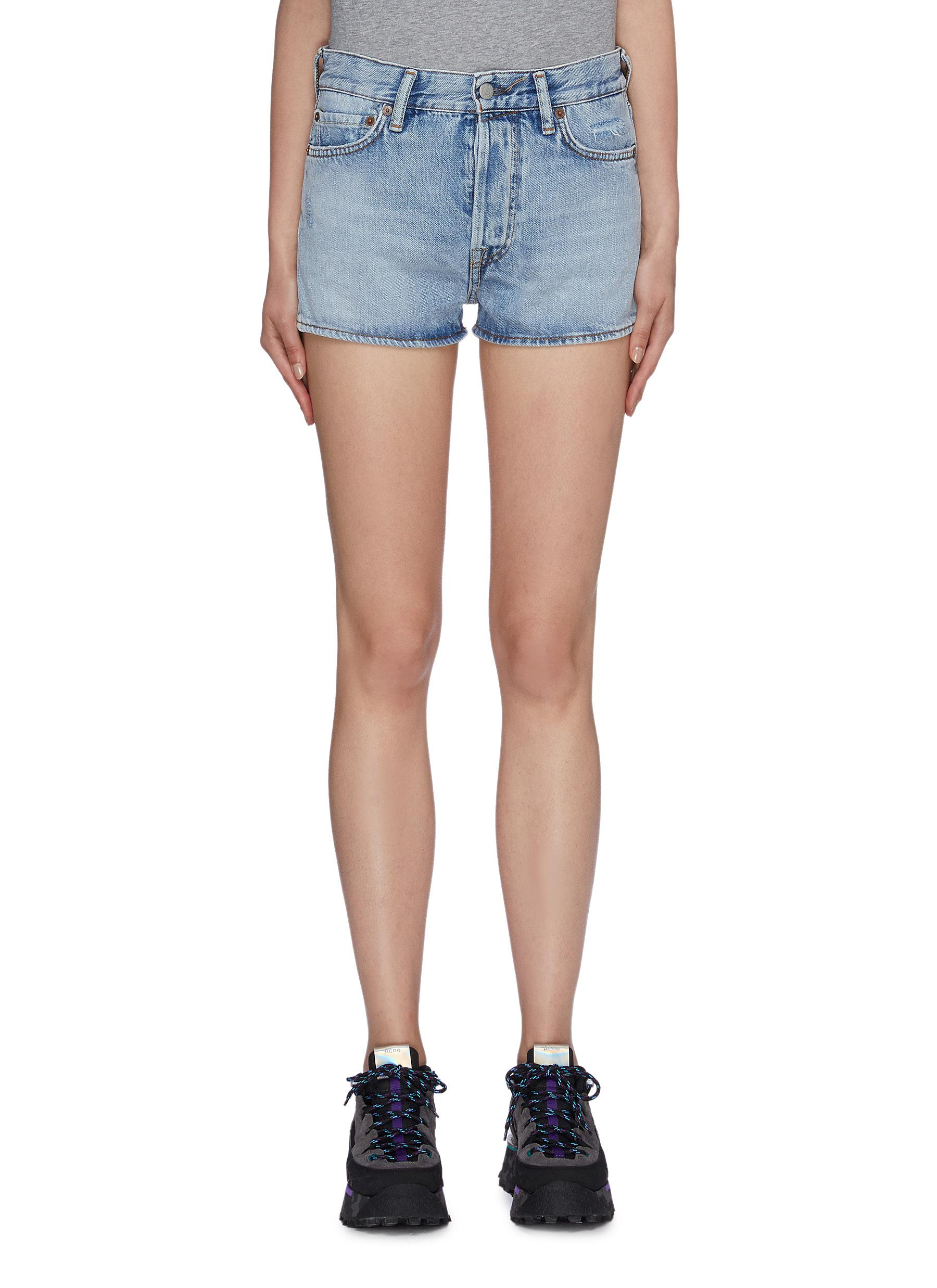 Magee washed denim shorts by Acne Studios
