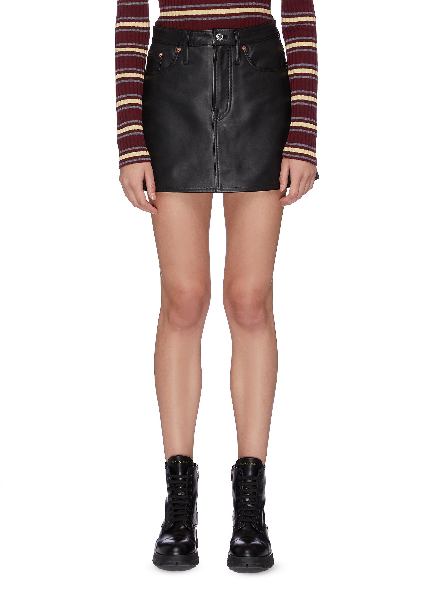 Lambskin leather skirt by Acne Studios