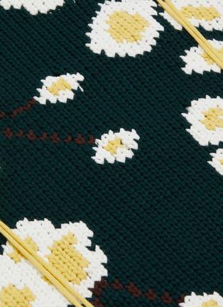 - ENFÖLD - Sakura frayed jacquard sweater