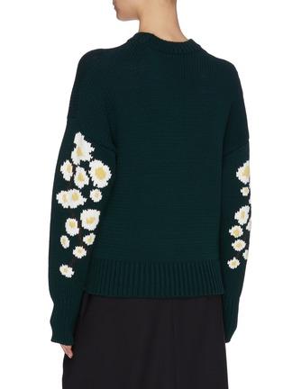 Back View - Click To Enlarge - ENFÖLD - Sakura frayed jacquard sweater