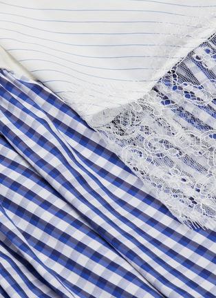 - ENFÖLD - Lace trim tiered asymmetric patchwork skirt