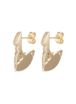 Main View - Click To Enlarge - SARAH & SEBASTIAN - 'Profile Chasm' diamond 10k yellow gold drop earrings