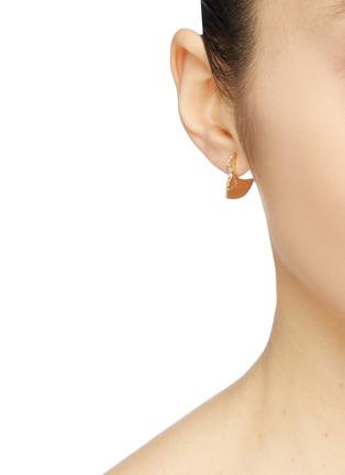 Figure View - Click To Enlarge - SARAH & SEBASTIAN - 'Profile Chasm' diamond 10k yellow gold drop earrings
