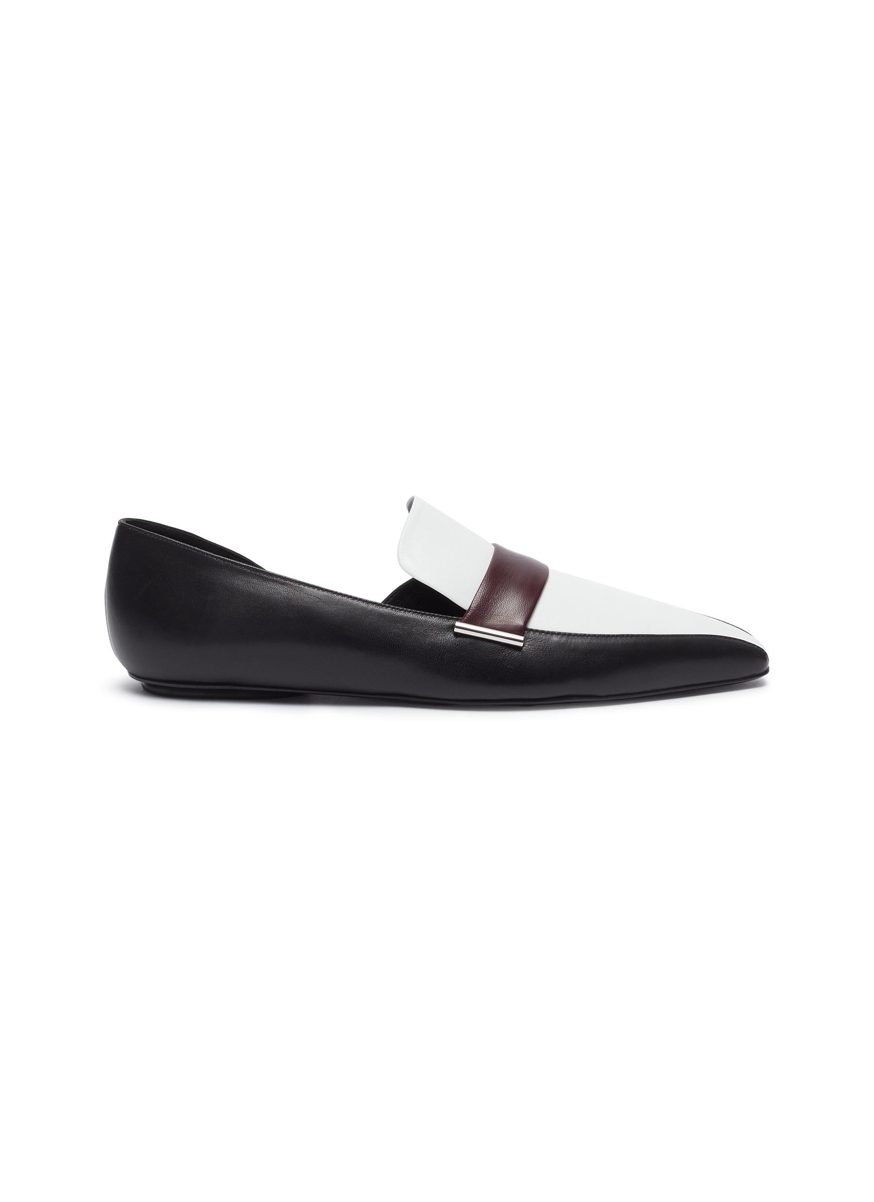 Colourblock leather dOrsay loafers by Rosetta Getty