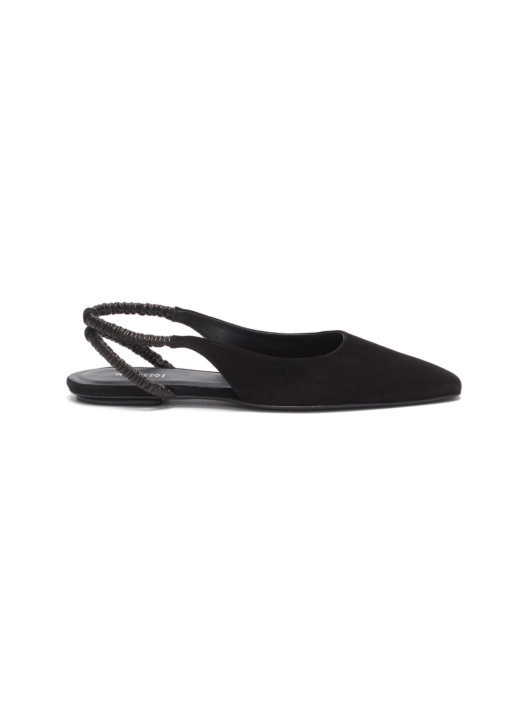 Suede slingback flats by Rosetta Getty