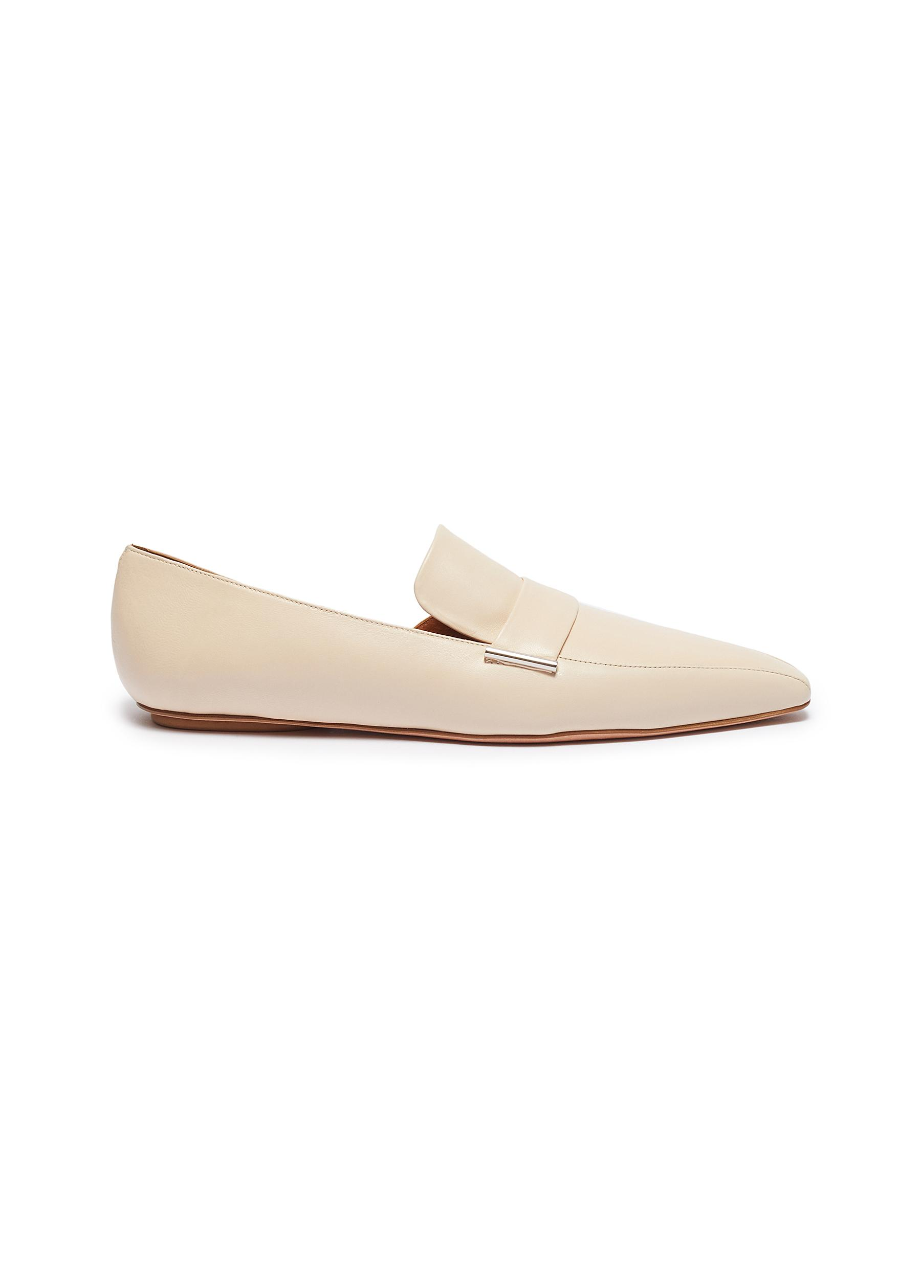 Leather dOrsay loafers by Rosetta Getty
