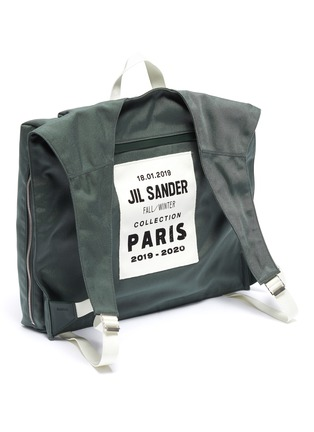 Detail View - Click To Enlarge - JIL SANDER - 'Climb Harness' canvas backpack