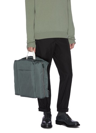 Figure View - Click To Enlarge - JIL SANDER - 'Climb Harness' canvas backpack