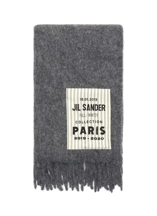 Detail View - Click To Enlarge - JIL SANDER - Logo label scarf