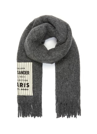 Main View - Click To Enlarge - JIL SANDER - Logo label scarf