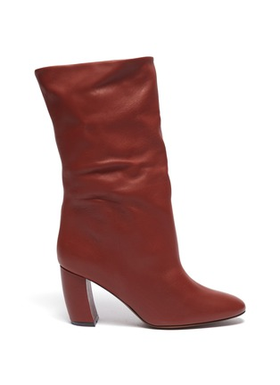 Main View - Click To Enlarge - NEOUS - 'Ophrys' leather knee high boots