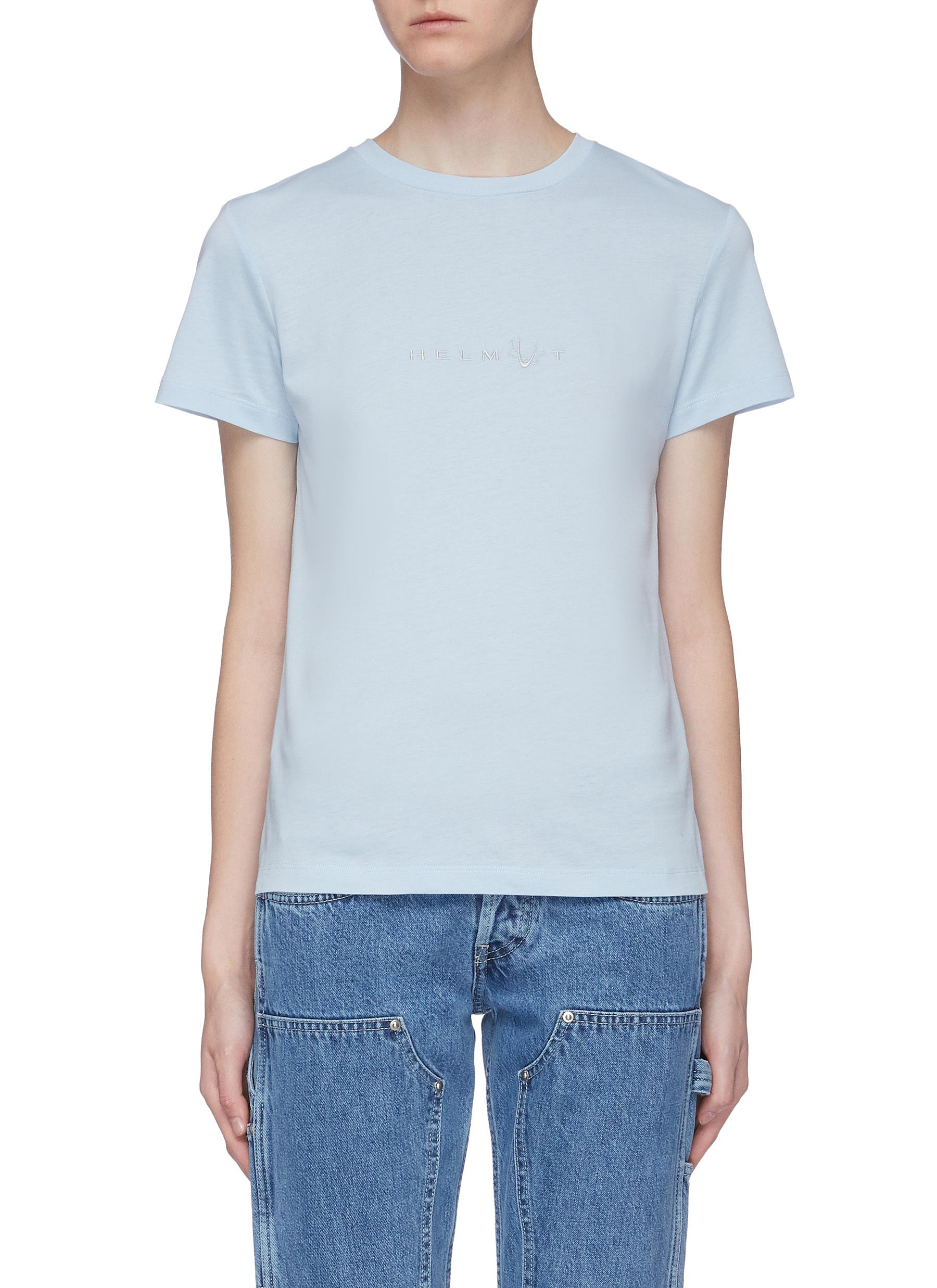 Alien logo embroidered T-shirt by Helmut Lang