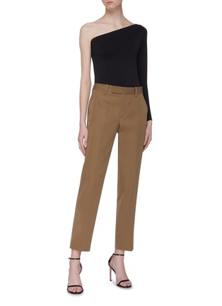 Figure View - Click To Enlarge - HELMUT LANG - Cropped wool twill military pants