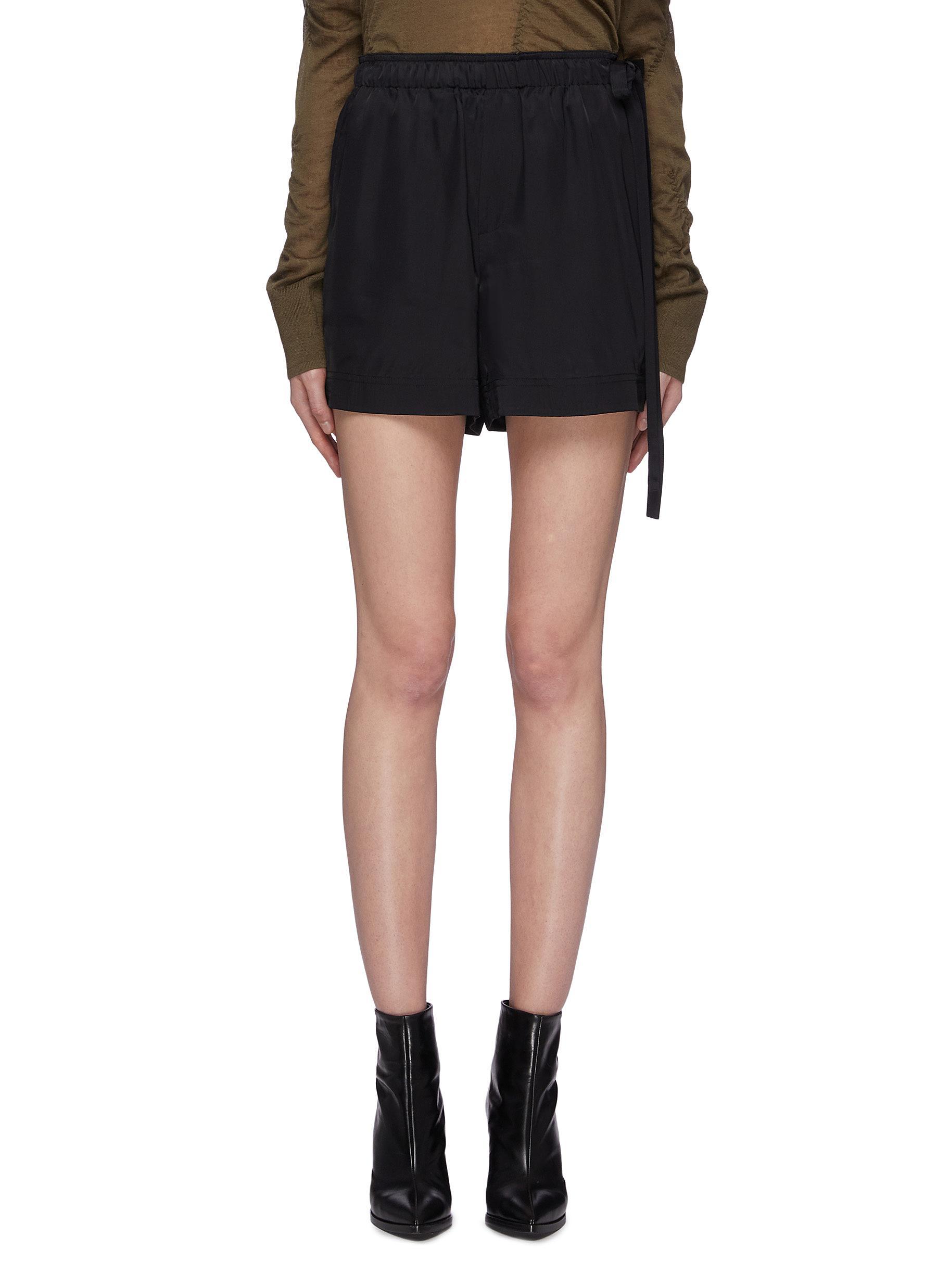 Side drawstring shorts by Helmut Lang