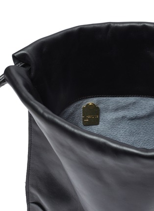 Detail View - Click To Enlarge - A-ESQUE - Leather drawstring backpack