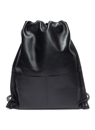 Main View - Click To Enlarge - A-ESQUE - Leather drawstring backpack