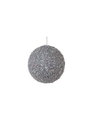 Main View - Click To Enlarge - SHISHI - Glitter ball Christmas ornament – Silver