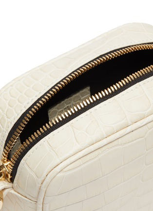 Detail View - Click To Enlarge - DEMELLIER - 'The Athens' croc embossed leather square crossbody bag